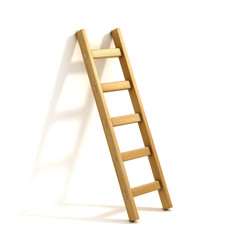 ladders isolated on white