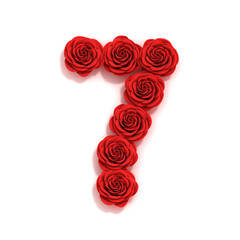 rose font number 7