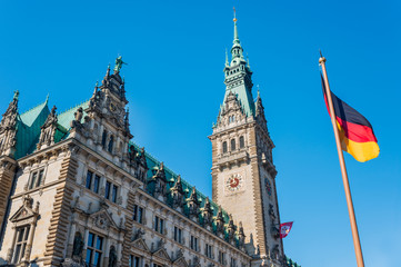 Hamburg sightseeing town hall