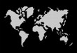 World map, white dots atlas composition EPS10 vector file.