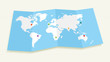 World map with GPS location pushpins EPS10 file.