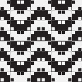 Herringbone Weave Black White Illusion Vector Seamless Pattern