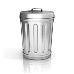 trash can isolated on white background