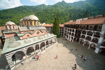 Appearance of a monastic belfry monastery in the Rila Monastery