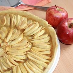 tarte, apple tart, pommes
