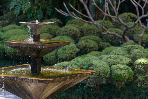 Papiers peints Fontaine Square fountain in an Asian garden