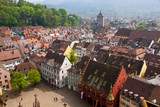Bird eye view of buildings in Freiburg im Breisgau, Germany