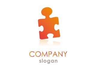 puzzle man logo