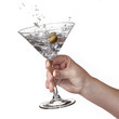 Splash of martini in womans hand isolated - 57040717