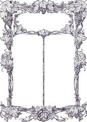Classical vine border