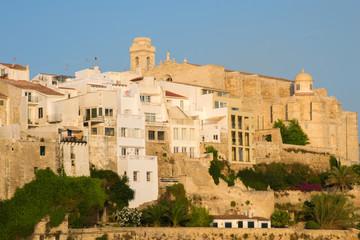 Iglesia y claustro de San Francisco en Mahón. Menorca.