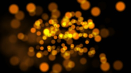 Orange Bokeh Abstract Motion Background