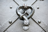 detail and knocker of a door