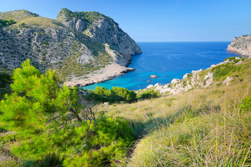 Beautiful rocky sea bay on Majorca