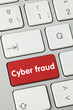 Cyber fraud keyboard key