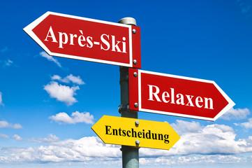 Après-Ski oder Relaxen?
