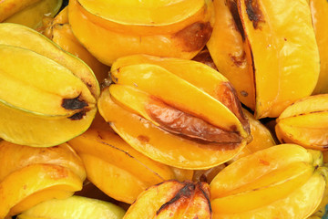 Rotten star fruit (carambola)