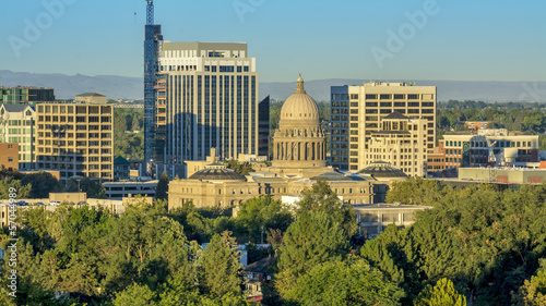 City of trees with the Idaho state Capital building