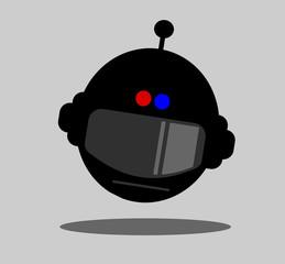futuristic police helmet