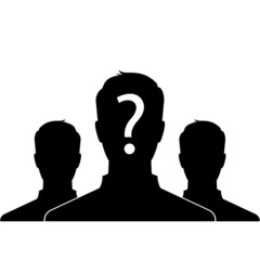 Group of anonymous man - silhouette