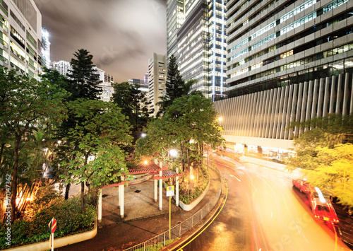 Foto op Aluminium Beijing Hong Kong night view with car light