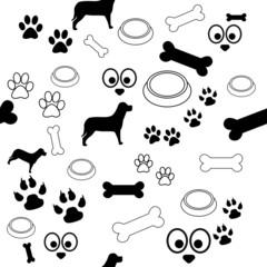 Dog Pattern Black and White