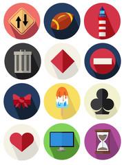 round icons set 17