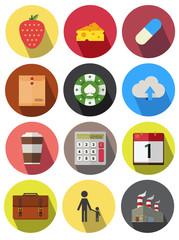 round icons set 14