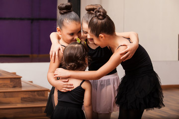 Cute little friends in dance class