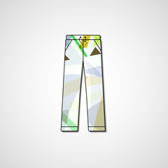 Abstract illustration on pants, template editable.