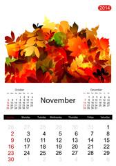 Floral calendar 2014, november