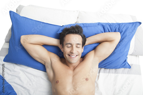 Man lying on the bed