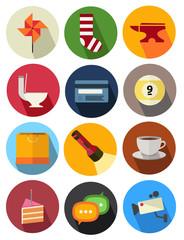 round icons set 7