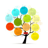 Calendar tree 2014 for your design