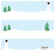 banner wintermotiv schneemann und tannenbäume