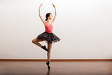 Cute ballet dancer performing