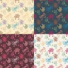 seamless patterns with ribbon