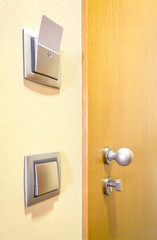 Hotel room door and lights electronic card