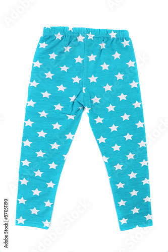Child pants in stars.