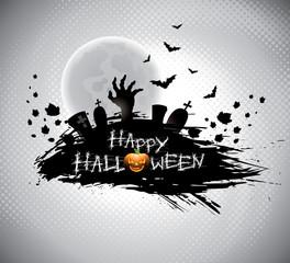 Vector illustration on a Halloween theme.