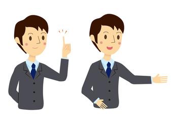 ビジネスマン 表情 紹介