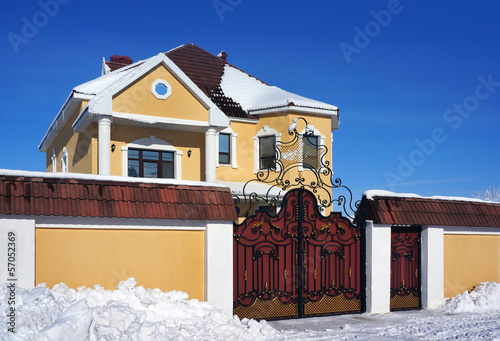 Winter day, House