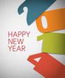 Colorful Happy New Year 2014 vector card
