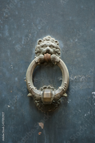 Italian door knocker: lion