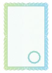 Template border diplomas, certificate