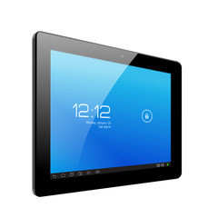 Realistic tablet pc computer. Vector Illustration