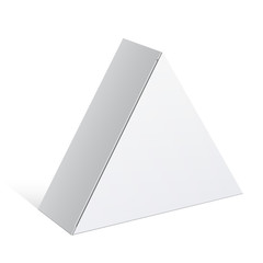 Realistic White Package triangular shape Box