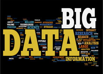 Big Data isolated on black background