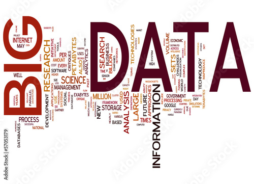 Big Data concepts isolated on white background