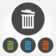 Trash bin icons